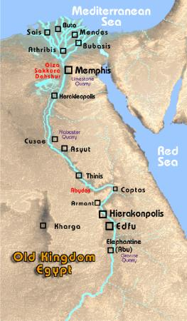The Old Kingdom Of Ancient Egypt Janakesho - Map of egypt landforms